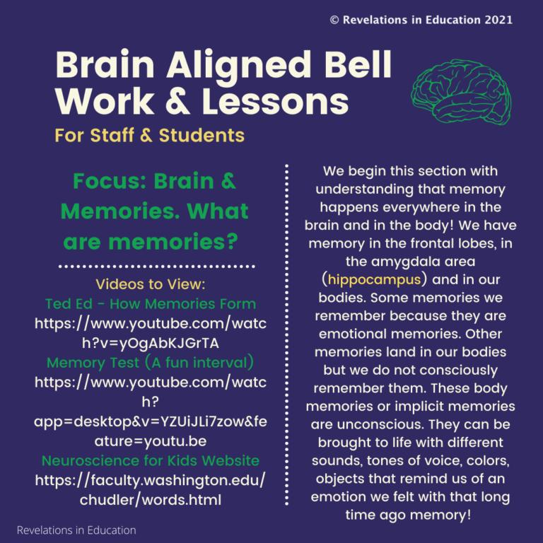 © Once a week Brain Aligned Bell Work -Focus: Brain and Memories