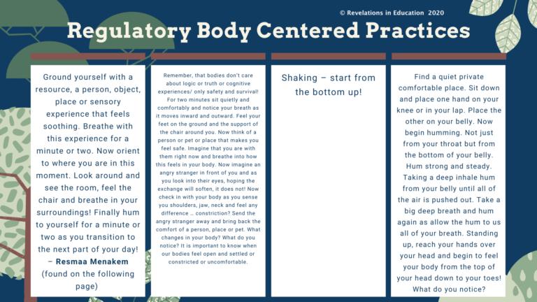 © Regulatory Body Centered Practices 5