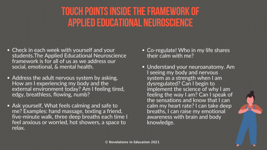 © Touch Points Inside the Framework of Applied Educational Neuroscience